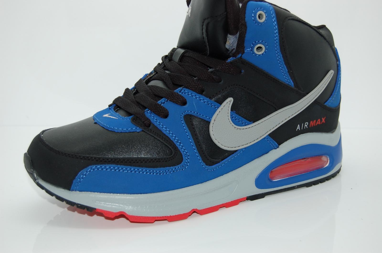 ... Зимние кроссовки Nike air max skyline арт.238 черный синий красный  (black 23d8664ca6d