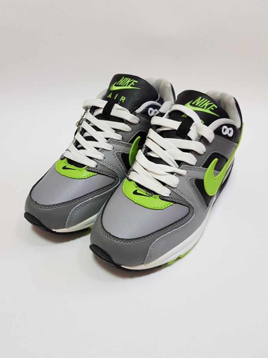 4c298e3c ... Зимние кроссовки Nike air max skyline арт.137 серый/зеленый (grey/green